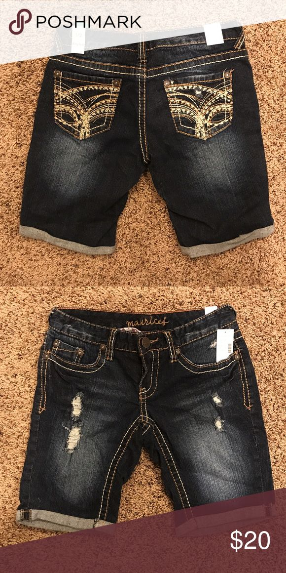 Ladies denim shorts NWT Maurices ladies denim shorts. Size 1-2. Kaylee original fit style. Inseam measures 9 inches. Cute shorts for summer! Comes from smoke free home. Message for more details. Thanks for looking! Maurices Shorts Jean Shorts