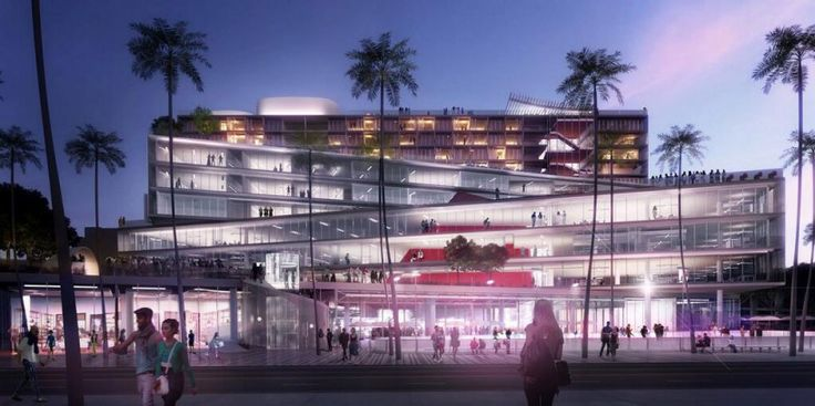 OMA's plaza at santa monica is firm's first LA project - designboom