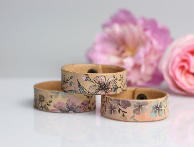 Tvoríme s BLUBERY - ručne maľované kožené náramky a doplnky / Blubery / SAShE.sk