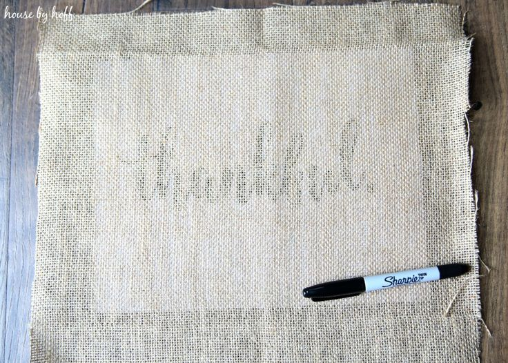 How to Make Perfect Letters on Burlap via House by Hoff3