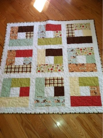 Good way to use up scraps of small/medium print fabric. (from Dandelion Quilts).