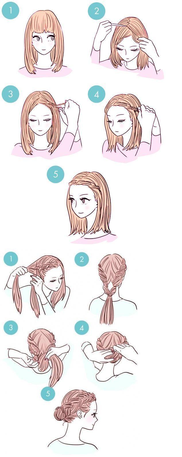 Simple Hairstyles Womenhairstylesmediumsdianekeaton Simple Womenhairstylesme Medium Haare Frisuren Selbstgemachte Frisuren