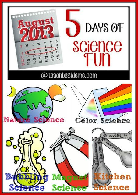 5 Days of Science fun for Kids Good themes - one for each week