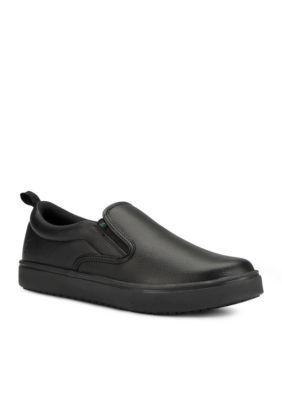 Emeril Lagasse Men's Royal Leather Slip On Sneaker - Wide Width Available - Black - 8W