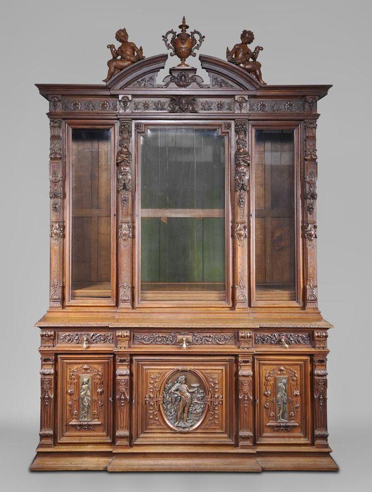Antique Dining Room Set 5 P Furniture Renaissance Xvii Th