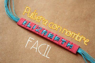 Craftingeek*: Pulsera con nombre [FACIL] + Sencilla