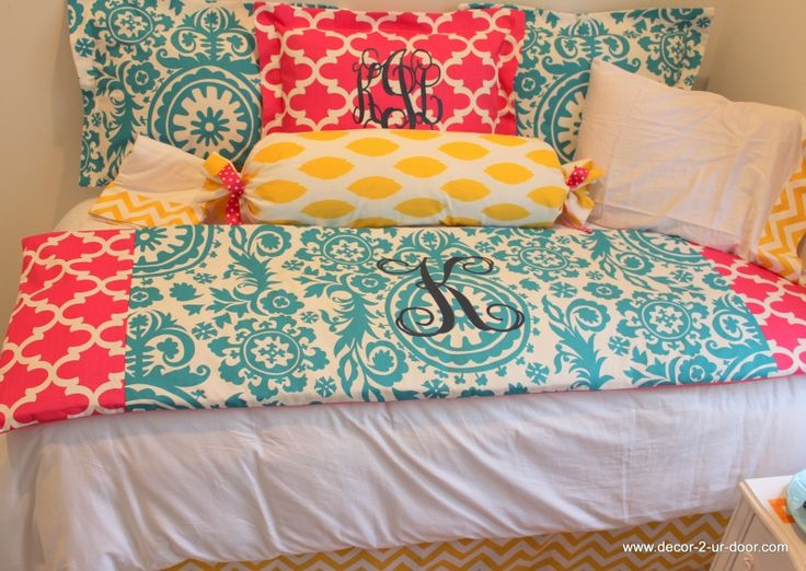 monogrammed bed scarf 2