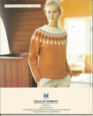 Dale of Norway Trends Lady's Men's Sweaters Knitting Pattern | eBay