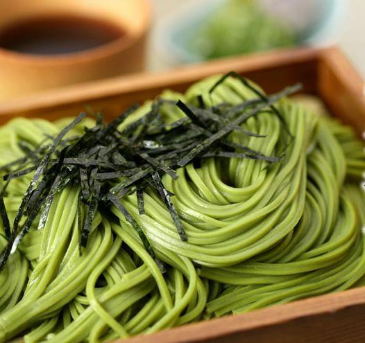 #Japanese green, Uji Matcha Soba http://www.cooktellsastory.com/apps/blog/show/4316042-green-tea-soba-matcha-soba