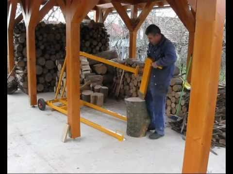 If needed a wood splitter, I'd probably build this.