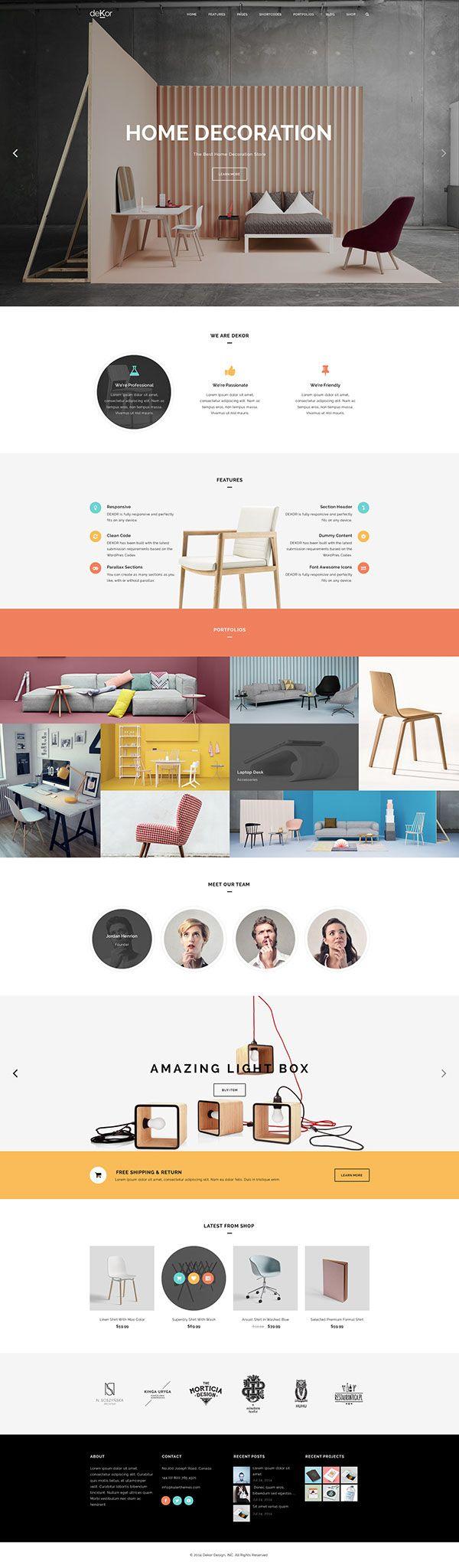 deKor – Interior WordPress Theme on Behance