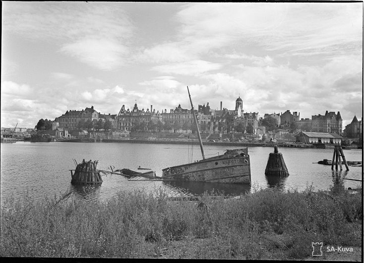 The city of Viipuri (called Vyborg by the Soviets). It was the second largest city in Finland, until it was ceded to the USSR in 1940. This photo was taken on 30 August 1941, after its liberation. The city would fall again to the Soviet Union after the Red Army's 1944 Karelian Offensive. It is now part of the Russian Federation.