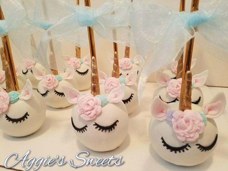 Unicorn themed candy apples