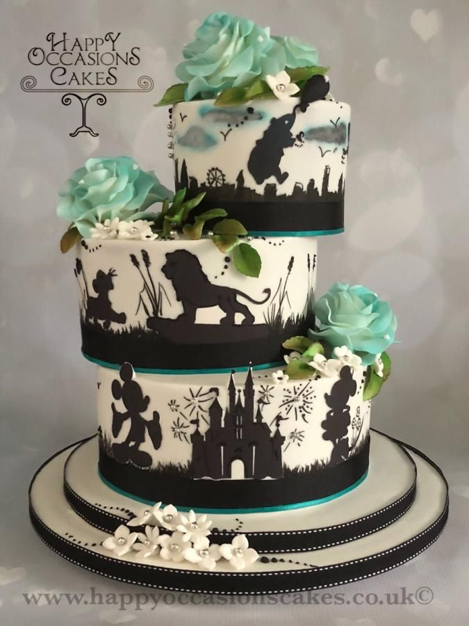 Pin By Cakesdecor Com On Wedding Cakes In 2019 Silhouette Wedding