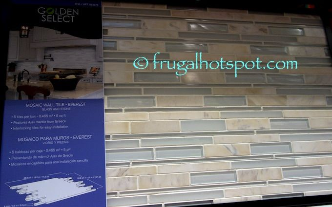 Costco Sale: Golden Select Everest Mosaic Wall Tile $19.99   Frugal Hotspot