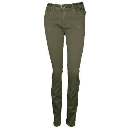 Donkergroene stoffen broek van Fashionize ♥