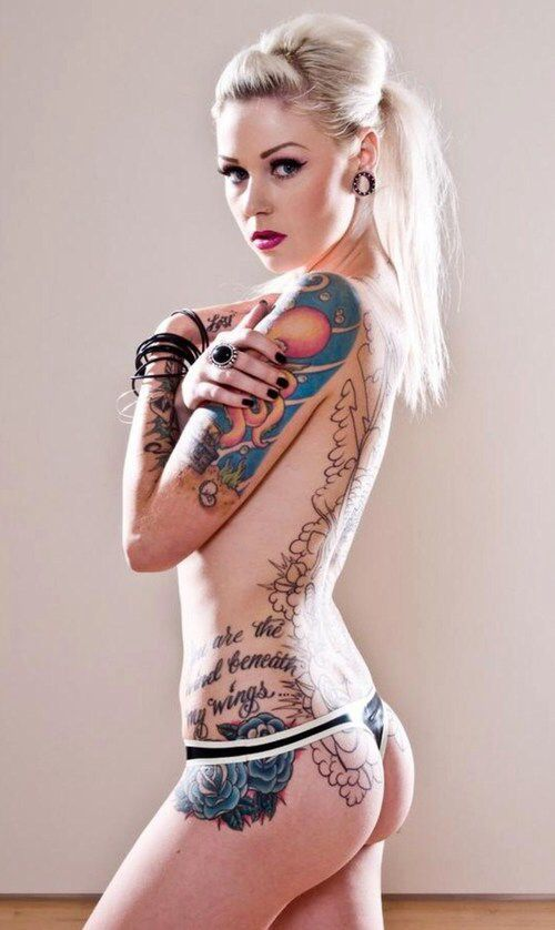 Girl with hot tattoo nude 11