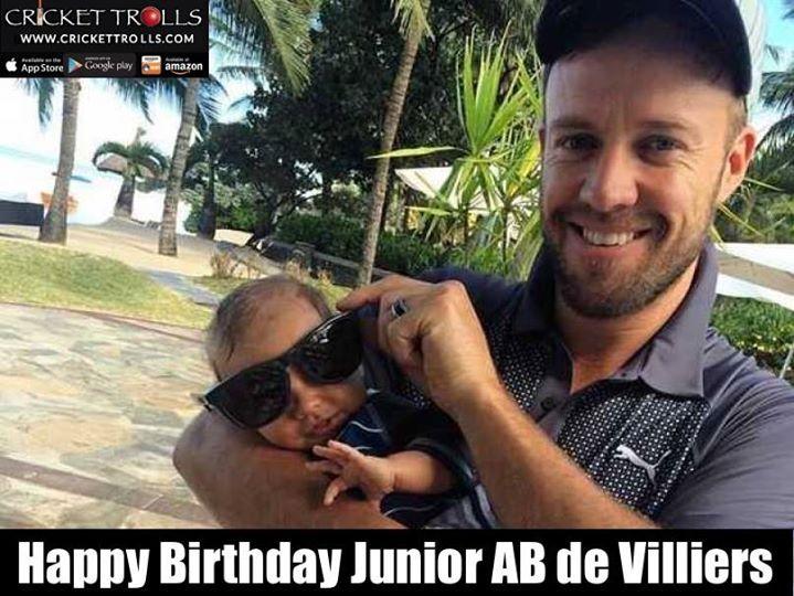 #championofchampions #JuniorABD  1st birthday today of Junior AB de Villiers  Happy Birthday CHAMP ! - http://ift.tt/1ZZ3e4d