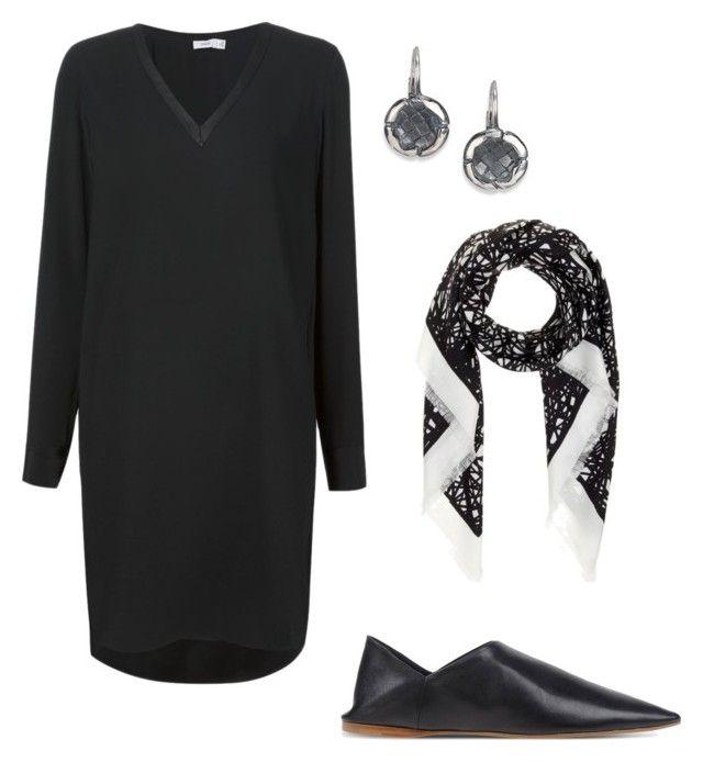 """Vince black dress"" by kirsti-salonen on Polyvore featuring Vince, Bottega Veneta, Balenciaga and Acne Studios"