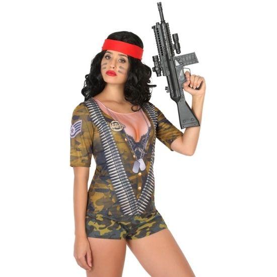 Shirt met lange mouwen en 3D soldaten print. Met dit shirt lijkt het net of je een complete soldaten outfit draagt! Het shirt is gemaakt van 100% polyester. Accessoires zijn los verkrijgbaar in onze webshop.