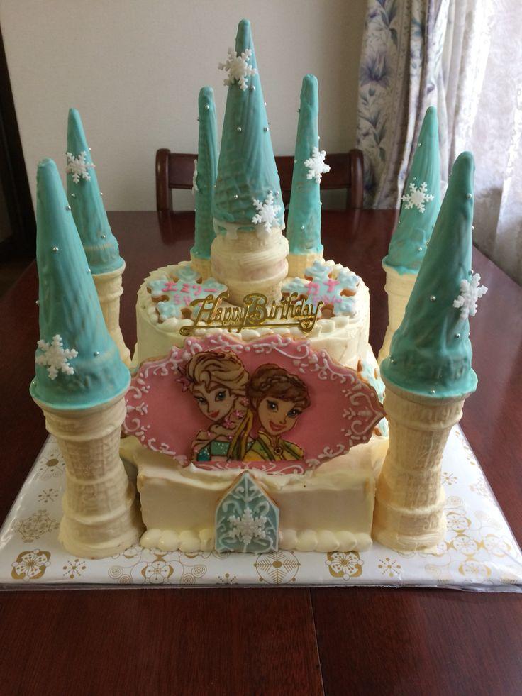 「アナと雪の女王」バースデーケーキ。 Frozen Bithday Cake