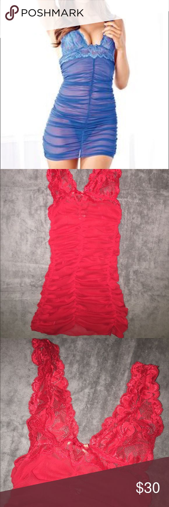 NWT *RED* LINGERIE by Frederick's of Hollywood NWOT Red LINGERIE, stretchy material. SIZE XS, by Frederick's of Hollywood. Frederick's of Hollywood Intimates & Sleepwear Chemises & Slips