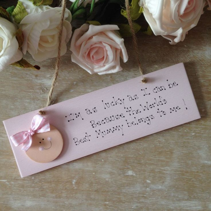 Handmade Wooden Mothers Day Gift or also for a new Mum...£8.99