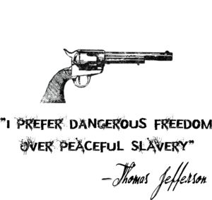 so much better because it is an accurate--well, not quote, but at least paraphrased translation of something he actually wrote: http://www.monticello.org/site/jefferson/i-prefer-dangerous-freedom-over-peaceful-slavery-quotation