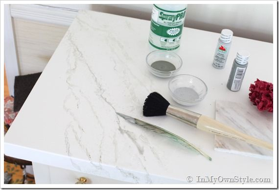 Paint Countertop To Look Like Stone : ... faux marble carrara marble marble paint painting marble white marble