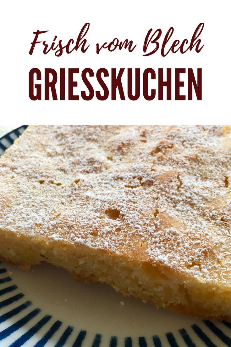 Fluffy Grießkuchen mit Joghurt – ein schnelles Rezept