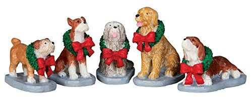 Lemax Village Collection Christmas Pooch, Set of 5  #CollectibleFigurines