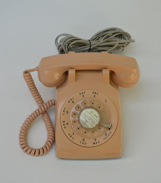 Continental 1981 Vintage Rotary Telephone in by AcostaArtAndDesign