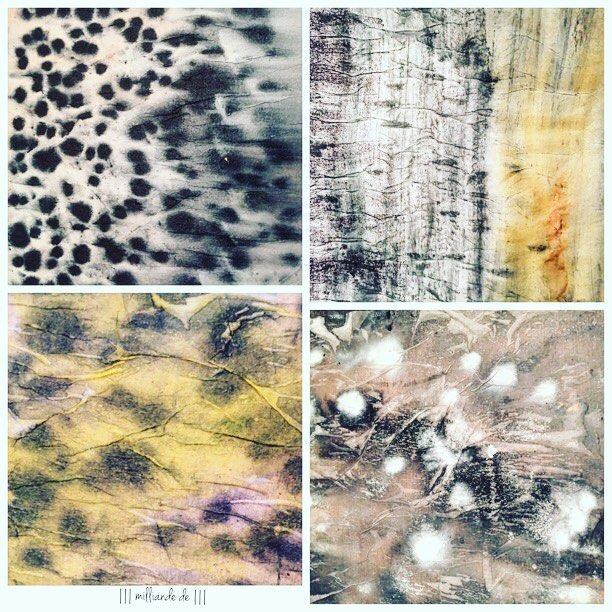 SnapWidget | A little #mixedmedia #texture play before bed tonight ... #surfacedesign play