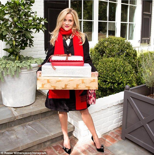 She's busy: Reese Witherspoon told People she has a lot on her plate these days. Here she is seen in an Instagram snap posted Tuesday