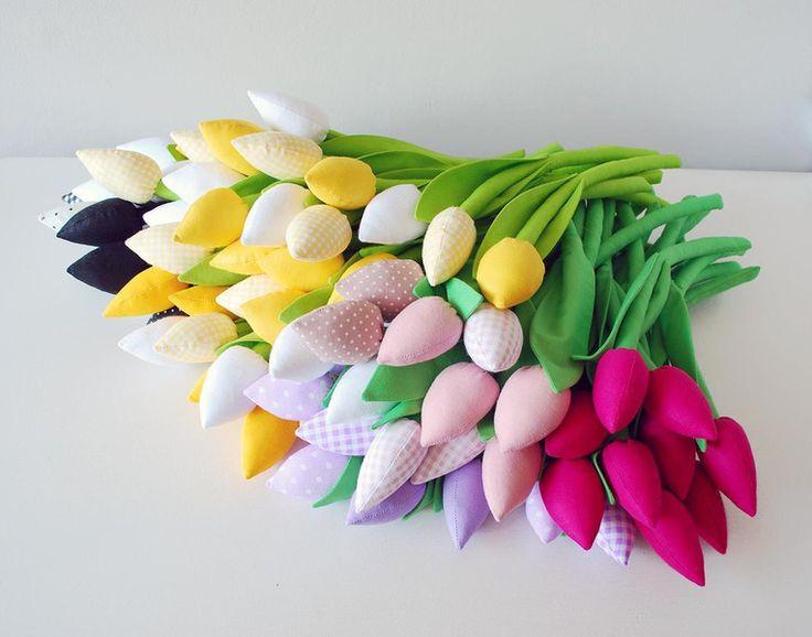 Bukiet+bawełnianych+tulipanów+von+Jobuko+auf+DaWanda.com