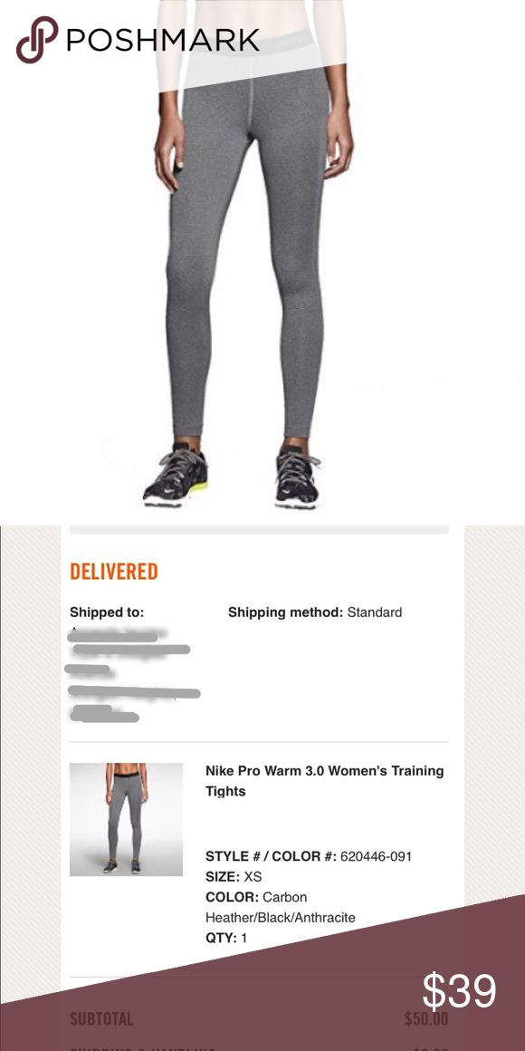 """Nike Pro Women's Training Tights in Gray Nike Pro Warm 3.0. New and unworn. Gray, super soft. More pics to come! NO TRADES!  """"FEATURES:  Training leggings Tight-fitting material hugs your body for super-supportive wear Elastic waistband ensures a snug, comfortable fit Triangle gusset minimizes restriction for a free range of motion Flat-seam construction prevents chafing for irritation-free wear Brushed interior feels ultra-soft against the skin for lasting comfort Care Instructions: Machine…"""
