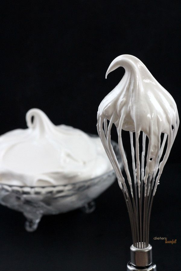 Fluffy and Decadent. My favorite Frosting! Seven Minute Frosting. from #dietersdownfall.com