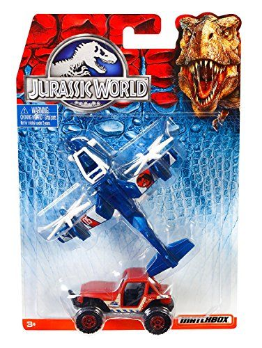 Jurassic World  SKY SAFARI & MBX 4x4  2015 Land & Air Matchbox 2-Pack Vehicle Set @ niftywarehouse.com #NiftyWarehouse #JurassicPark #Jurassic #Dinosaurs #Film #Dinosaur #Movies