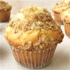 Tender, golden muffins, studded with dried fruit and topped with streusel. Bonus: they're high fiber!