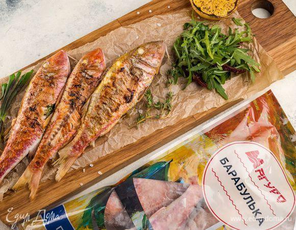 Рыба-гриль с зеленым маслом. Ингредиенты: рукола, лимоны, сливочное масло | Кулинарный сайт Юлии Высоцкой: рецепты с фото