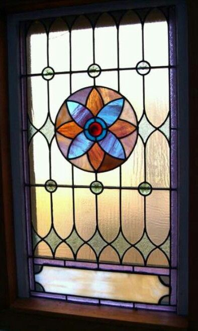 Gorgeous antique stained glass church window