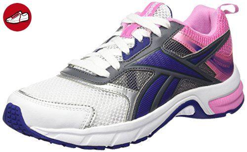Reebok Damen Pheehan Run 4.0 Laufschuhe, Weiß / Rosa / Blau / Grau (White / Icono Pink / Night Beacon / Alloy / Silv), 35 EU - Reebok schuhe (*Partner-Link)