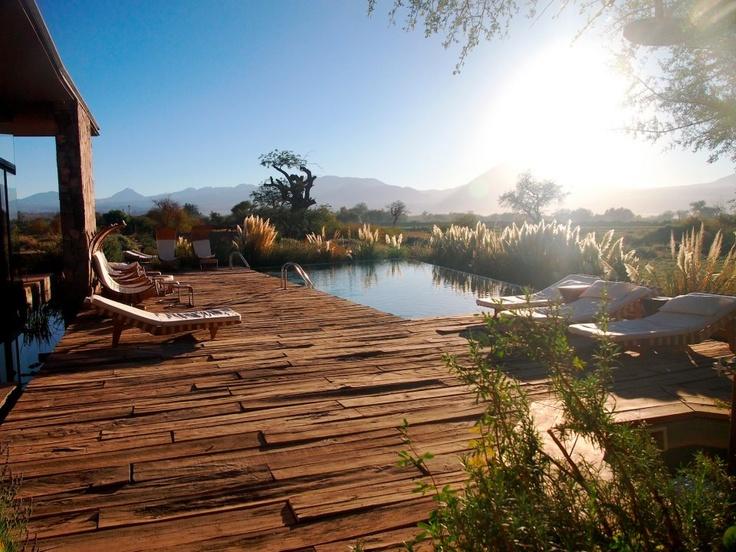 Tierra Atacama pool + patio #chile #southamerica #knowmadadventures