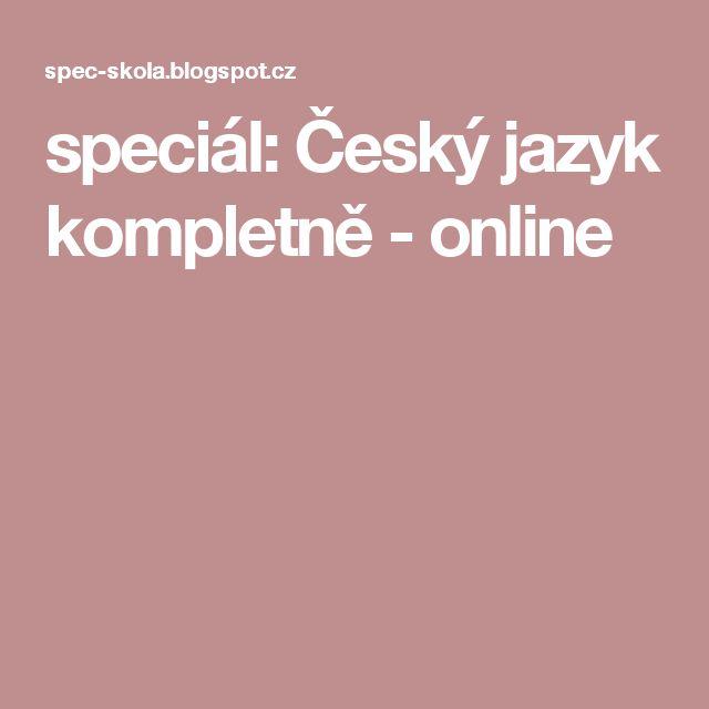 speciál: Český jazyk kompletně - online