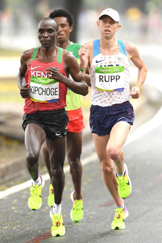 Kenya's Eliud Kipchoge triumphed in the men's marathon in 2:08:44, marking the…