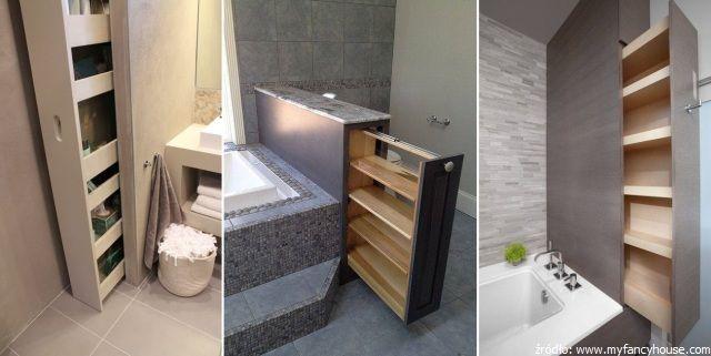 Pomysłowe schowki w łazience