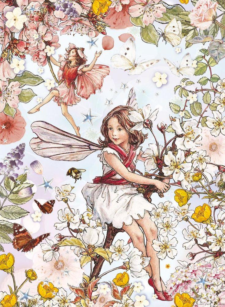 Cicely Mary Barker Flower Fairies Flor de cerezo y botón de oro