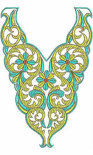 Bohemian Fashion | Bead Top Blouse Embroidery Design