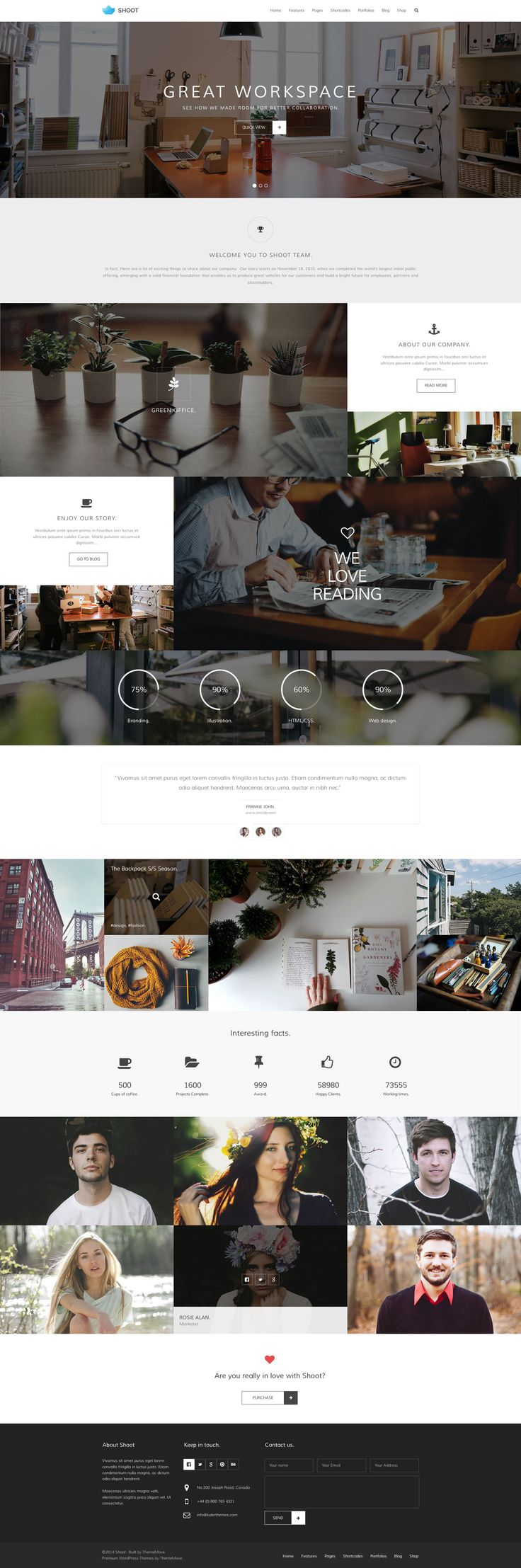Shoot - Black & White Multi-Purpose PSD Template