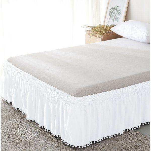 Haraway Pom Pom Fringe 16 Bed Skirt Comforter Sets Bed Duvet